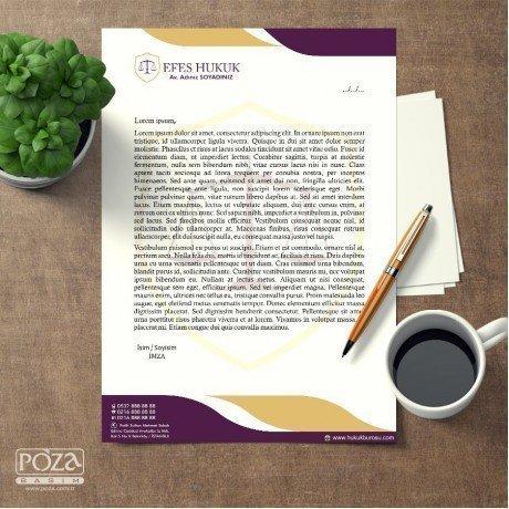 Avukat Antetli Kağıt P800