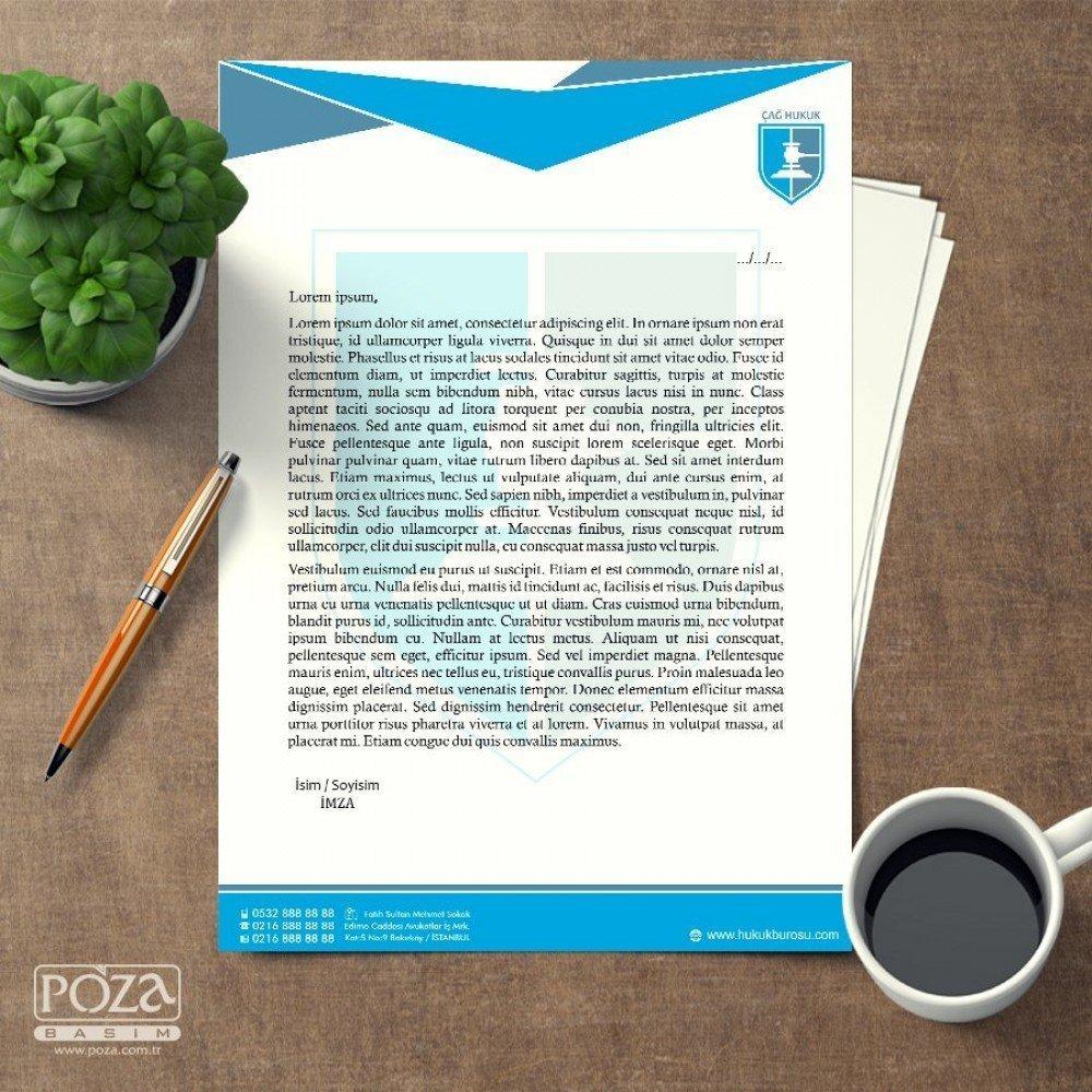 Avukat Antetli Kağıt P801