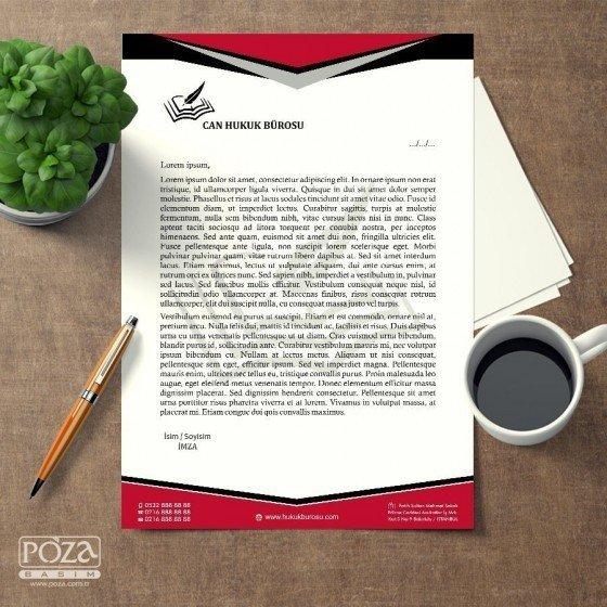Avukat Antetli Kağıt P802