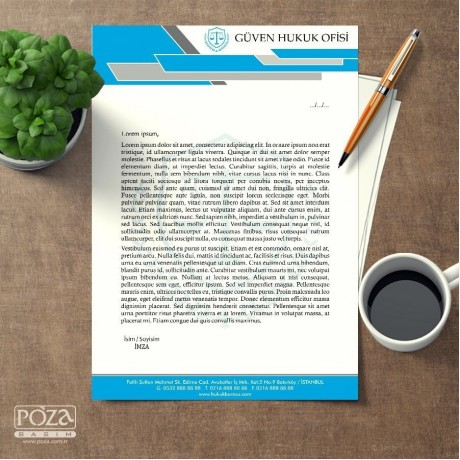 Avukat Antetli Kağıt P804
